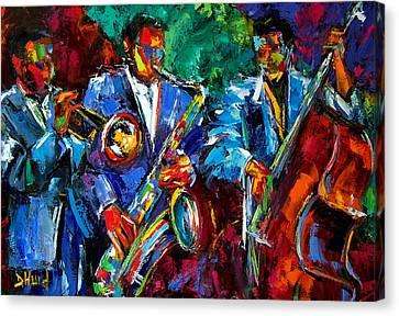 Blue Jazz Canvas Print by Debra Hurd