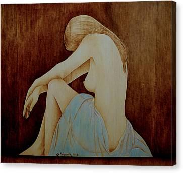 Blue Canvas Print by Jo Schwartz