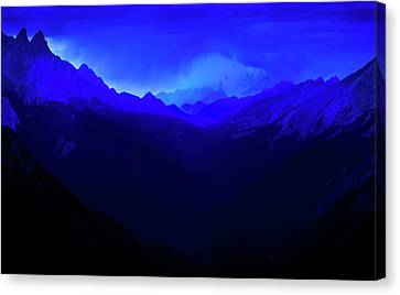 Canvas Print featuring the photograph Blue by John Poon