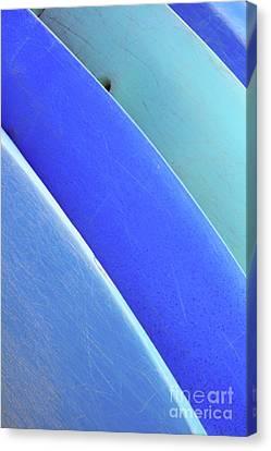 Blue Kayaks Canvas Print by Brandon Tabiolo - Printscapes