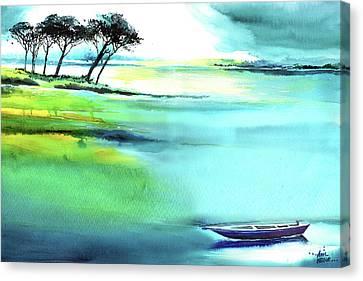 Blue Lagoon Canvas Print by Anil Nene