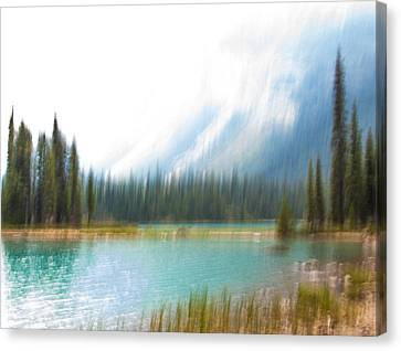 Blue Lake Canvas Print by Catherine Alfidi