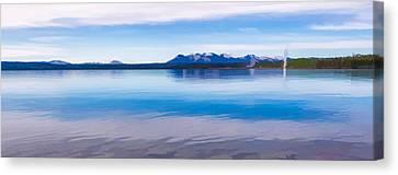 Blue Lake Horizon II Canvas Print