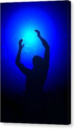 Blue Light Special Canvas Print