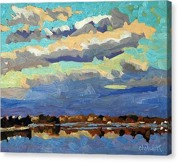 Blue Line Canvas Print by Phil Chadwick