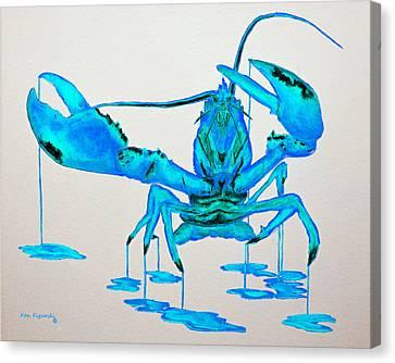 Blue Lobster Canvas Print