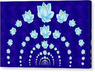Blue Lotus Tunnel Canvas Print