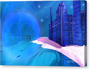 Blue Mansions Canvas Print