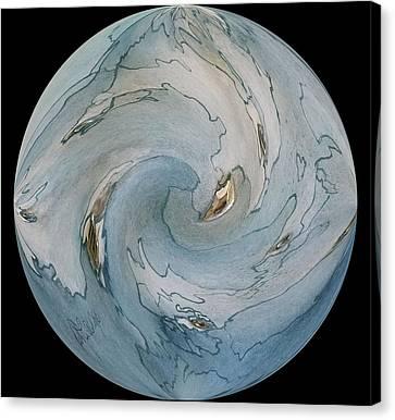 Blue Marble Canvas Print by Betty Lu Aldridge
