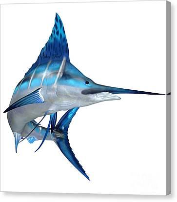 Blue Marlin Ocean Fish Canvas Print by Corey Ford