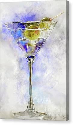 Blue Martini Canvas Print by Jon Neidert