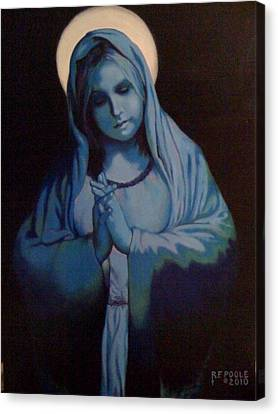Blue Mary Canvas Print by Rebecca Poole