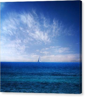 Sail Cloth Canvas Print - Blue Mediterranean by Stelios Kleanthous