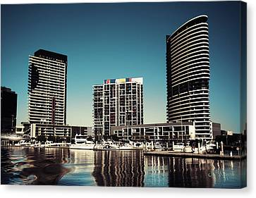 Blue Melbourne Canvas Print