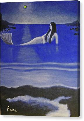 Blue Mermaid Canvas Print