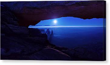 Winter Light Canvas Print - Blue Mesa Arch by Chad Dutson