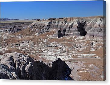 Canvas Print featuring the photograph Blue Mesa by Gary Kaylor