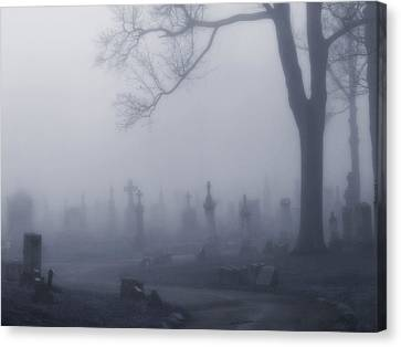 Blue Misted Fog Creeps In Canvas Print