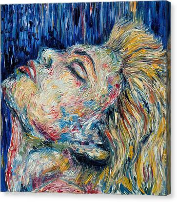 Blue-mo Canvas Print by Joseph Lawrence Vasile