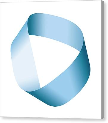 Blue Moebius Strip Or Mobius Band Canvas Print by Peter Hermes Furian