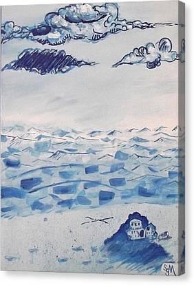 Blue Monotone  Canvas Print by Scott McBriar