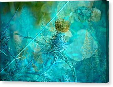 Blue Montage Canvas Print by Bonnie Bruno