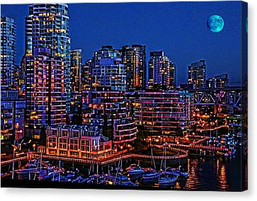 Blue Moon 2 Canvas Print by Lawrence Christopher