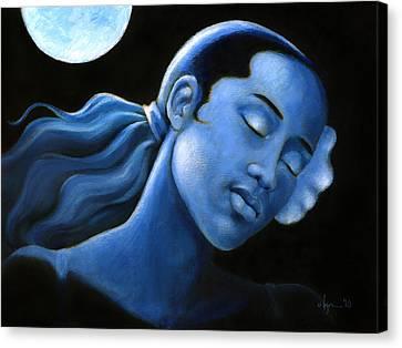 Blue Moon Dreams Canvas Print