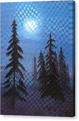 Blue Moon Canvas Print by Linda L Doucette