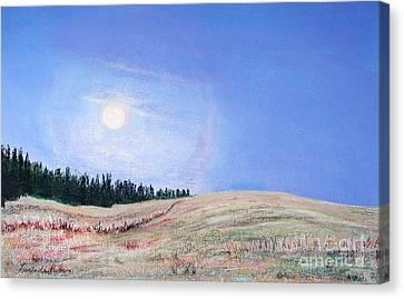 Blue Moon Canvas Print by Lucinda  Hansen