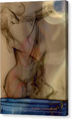 Canvas Print featuring the photograph Blue Moon Maiden by Vicki Ferrari