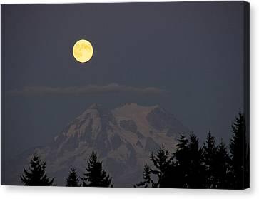 Blue Moon - Mount Rainier Canvas Print by Sean Griffin