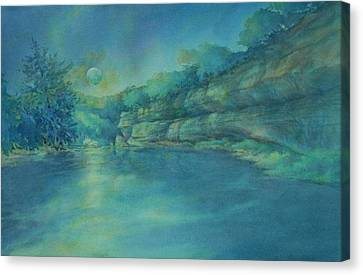 Blue Moon Over The Guadalupe Canvas Print