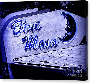 Blue Moon Canvas Print by Perry Webster