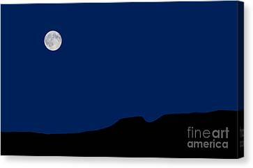 Blue Moon Rising Over The Giant Canvas Print by James Brown