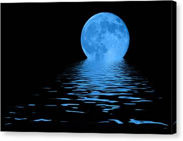 Blue Moon Canvas Print by Shane Bechler