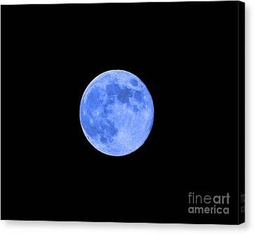Blue Moon .png Canvas Print