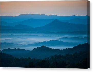 Canvas Print featuring the photograph Blue Morning by Joye Ardyn Durham