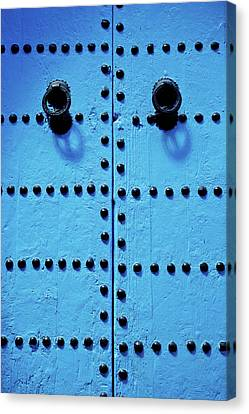 Blue Moroccan Door Canvas Print by Kelly Cheng Travel Photography