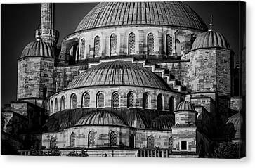 Blue Mosque Dome Canvas Print by Stephen Stookey