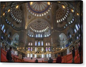 Ottoman Canvas Print - Blue Mosque Interior by Joan Carroll