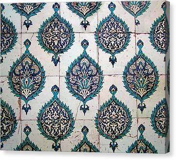 Blue Mosque Tiles Canvas Print