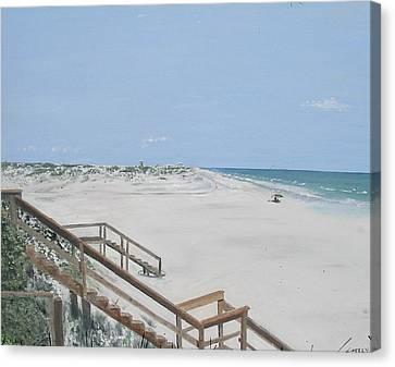 Blue Mountain Beach II Canvas Print by John Terry
