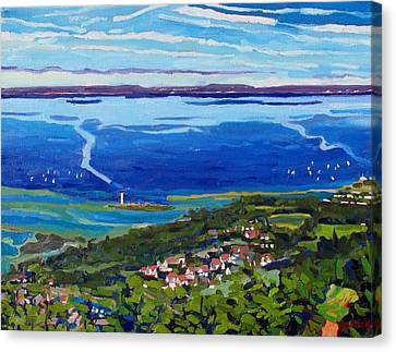 Collingwood Canvas Print - Blue Mountain Blues by Phil Chadwick