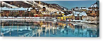 Blue Mountain Ice Reflection Canvas Print