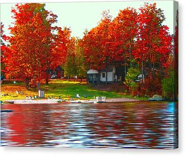 Blue Mountain Lake 10 Canvas Print by Steve Ohlsen