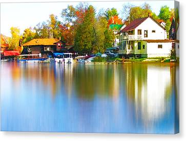 Blue Mountain Lake 7 Canvas Print by Steve Ohlsen