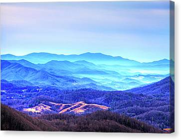 Blue Mountain Mist Canvas Print