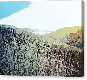Blue Mountain Scrub Canvas Print by Susan  Epps Oliver
