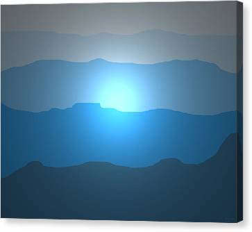 Blue Mountain Sun Canvas Print by David Stasiak